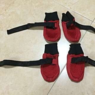 Red Doggie Shoes (Set of 4)