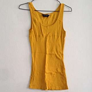 Dorothy Perkins Mustard Colour Tank Top. Fits UK 10. Collection At Pasir Ris MRT Station. No Trades.