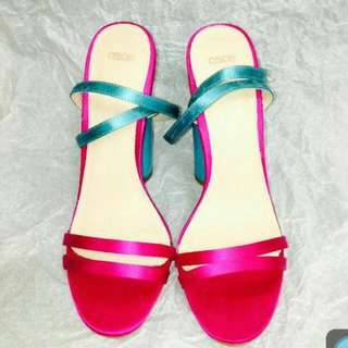 ASOS Block Heels (Fuschia/Turquoise)