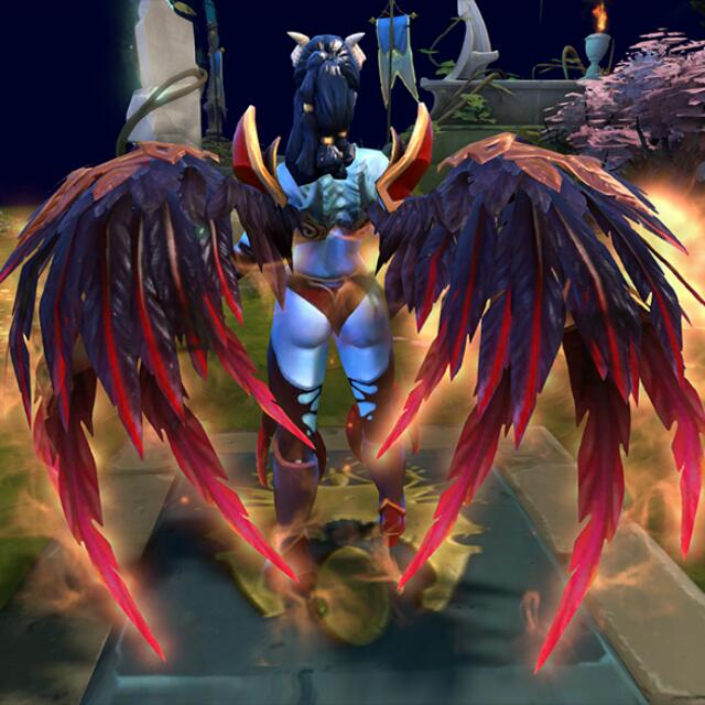 wtb dota 2 qop immortal blood feather wings blessed luckvessal