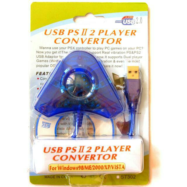 🆕 Brand New PS1/PS2 Controller to USB Adapter for Conversion to PC Xbox  360 Game Controller