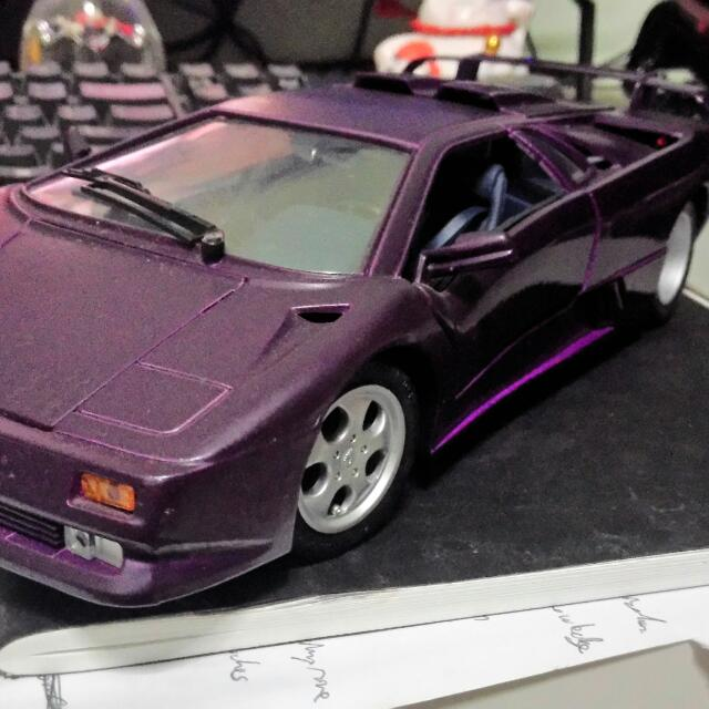 Maisto 1 18 Lamborghini Diablo Sv Purple Toys Games On Carousell