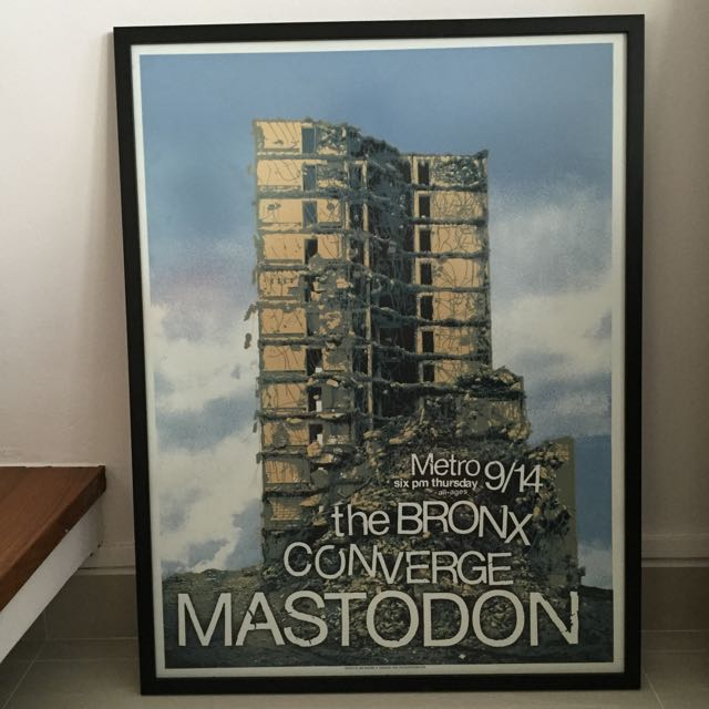 Mastodon w/ Converge & The Bronx Screen Print Gig Poster by Crosshair. Art, Framed, Print, Music