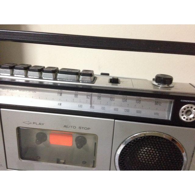 Retro Sanyo Radio Cassette Recorder