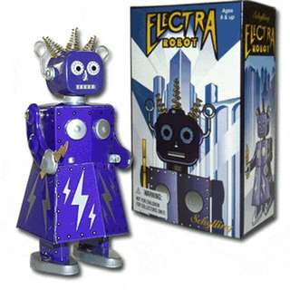 Electra Robot Windup Tin Toy St. John Toys Edition