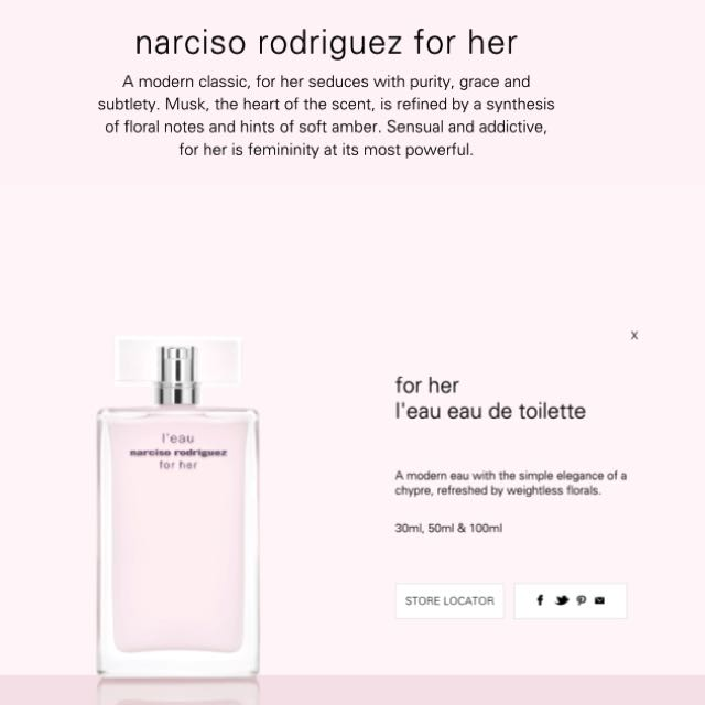 Sample Rodriguez For Her Narciso Etp QxrhtsdCB
