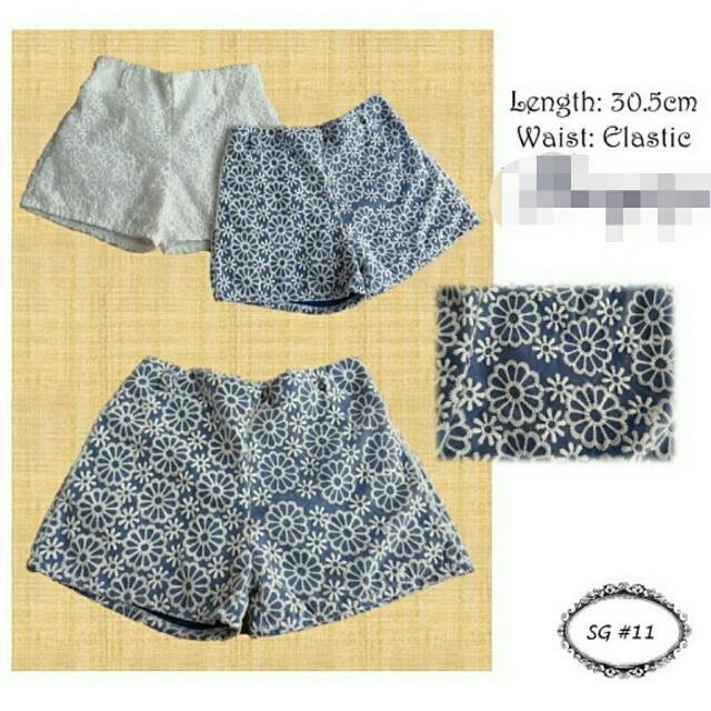 Flowery Elastic Shorts