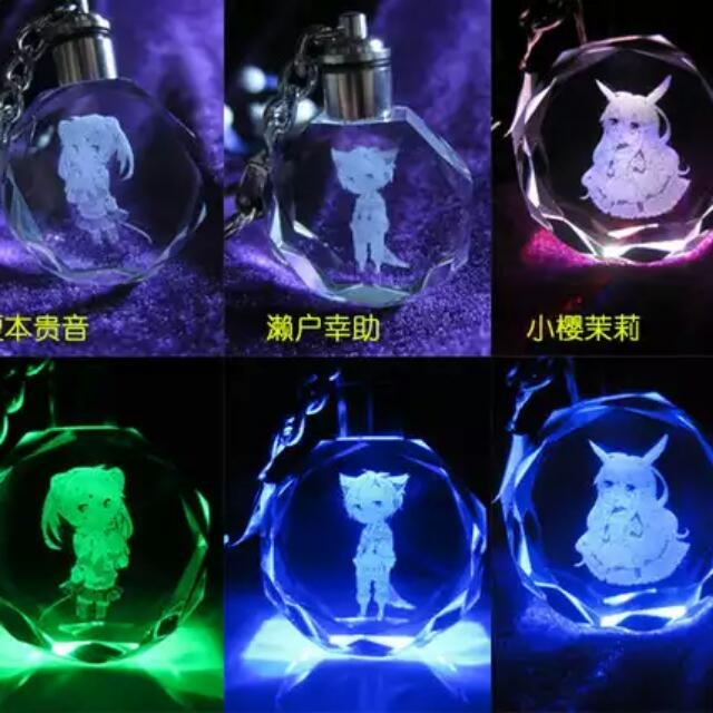 PO  Kagerou Project LED Light-up Multicoloured Keychains (Animal-ear ... 04b6faa15
