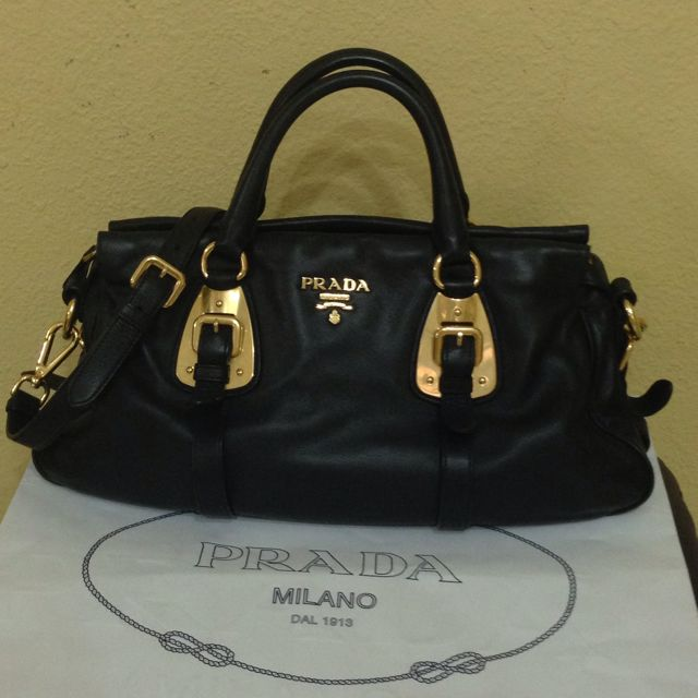 38f537a05bf2bb RESERVED] Preloved: Prada Bauletto BN1903 Full Soft Calf Leather ...