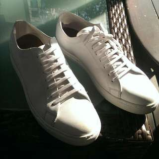 White Leather Sneakers From ALDO