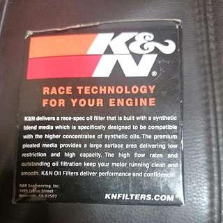 K&N Performance Oil Filter Authentic