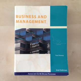 IB Textbook, Business & Management