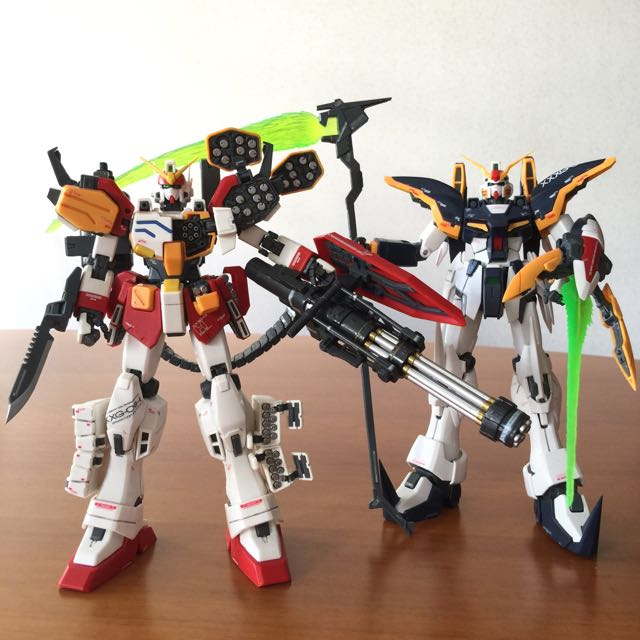 [reserved] BUILT - MG Gundam Deathscythe & Heavyarms EW