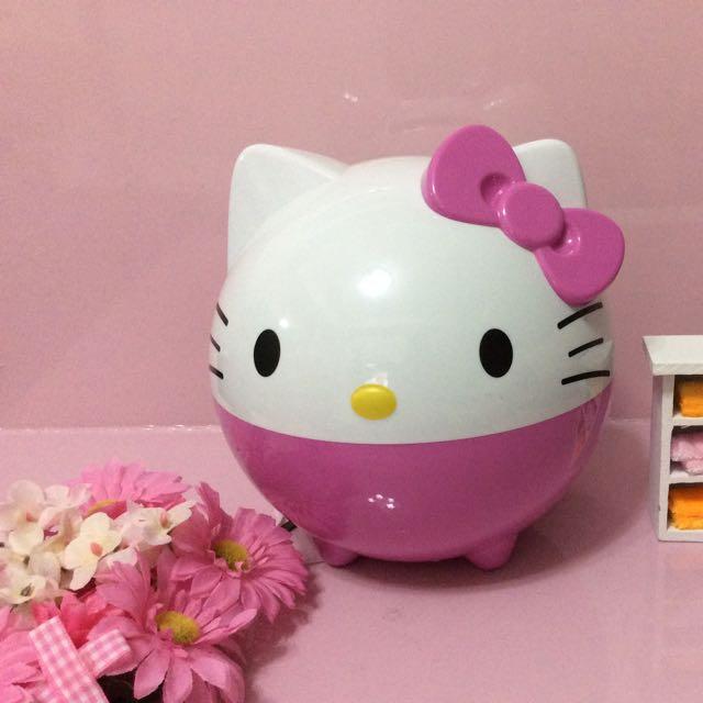 Kitty造型捲桶面紙盒
