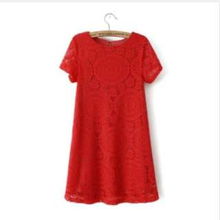 BN Red Embroidery Blouse In XL