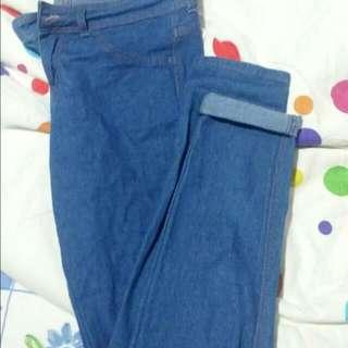 Bershka Skinny Vintage Blue Jeans