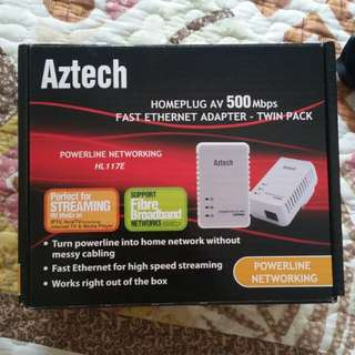 Aztech ETHERNET Homeplug ( DIRECT CABLE ) & it's Not WIFI Homeplug 500mbps