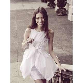 2-Way Handkerchief Dress (White)