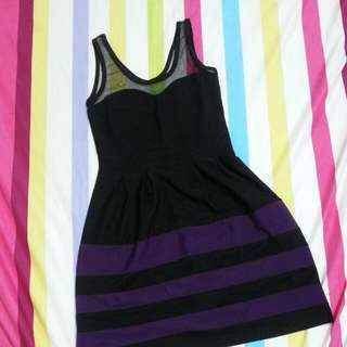 Black Purple Dress