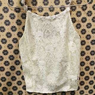 BN Cropped Lace Top