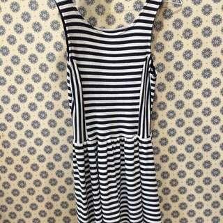 Pull&Bear Striped Skater Dress