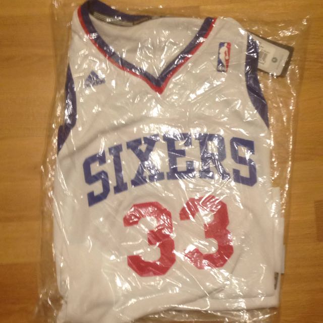 9eb3d6fcf80 Authentic ADIDAS SWINGMAN JERSEY ANDREW BYNUM SIXERS  33