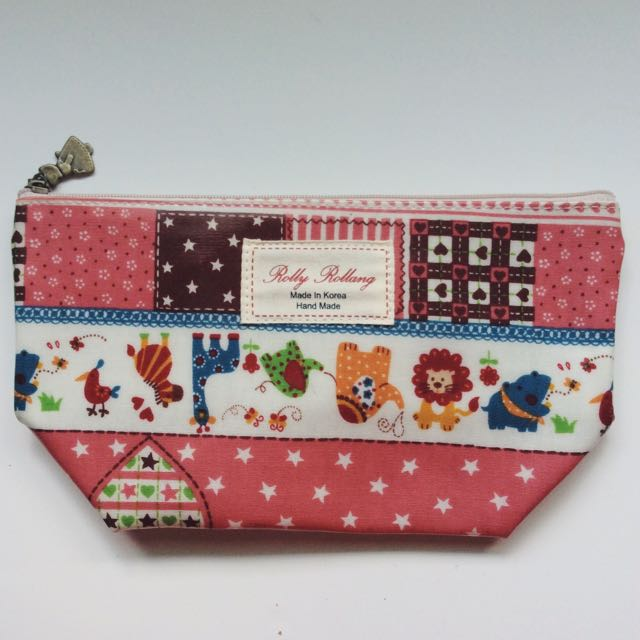 Cute Animal Zip Pouch