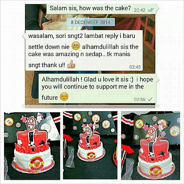 Manchester United Birthday Cakes Bulletin Board Looking For On Carousell