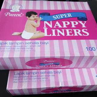 (Reduced) BNIB Nappy liner X 2 Boxes