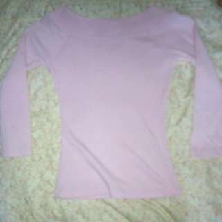 Long Sleeve Shirt Pink Color