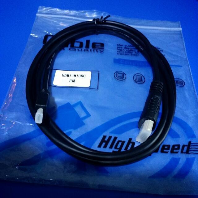 Micro HDMI to HDMI Cable (Brand New)