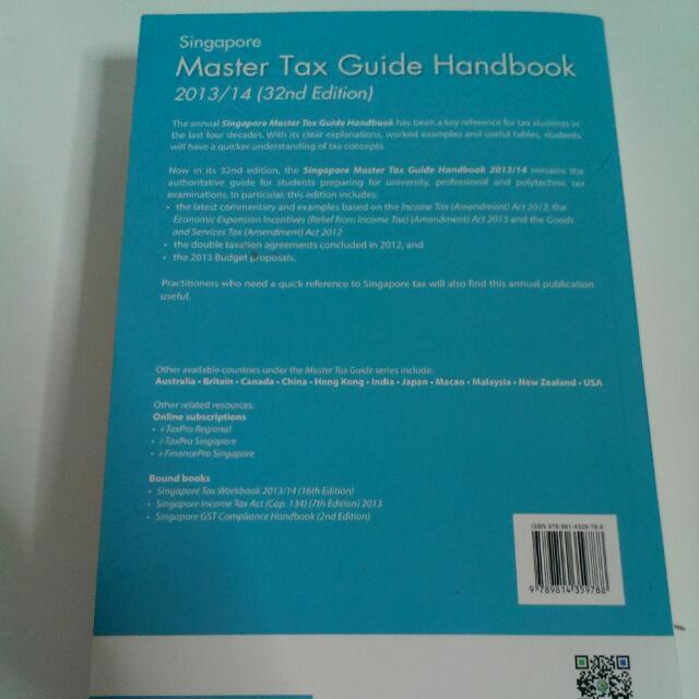 singapore master tax guide handbook 2013 14 books stationery rh sg carousell com Master Tax V4 Master Tax Guide 2015
