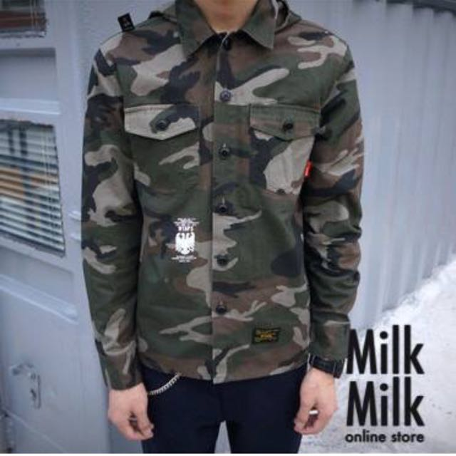 7904154d1a0db Wtaps Army Camo Jacket Shirt Hoodie, Men's Fashion on Carousell