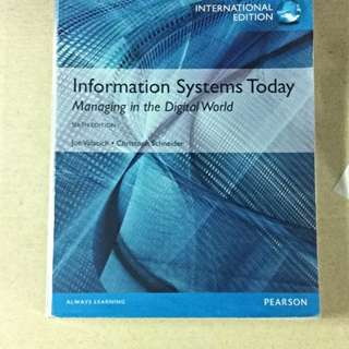 IS1105 Textbooks: Information System Today Managing In the Digital World