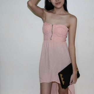 RESERVED Peach High Low dress