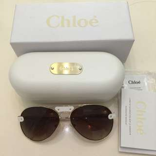Chloe Aviator Sunglasses. Was $550 Now $105 Nett. Tiny Peeling On Both Side, Pls Refer To Pics. No Trade
