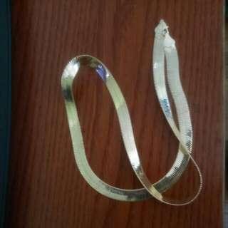 Gold Plated Herringbone Chain