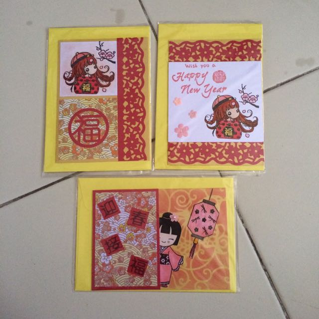 handmade chinese new year greeting cards design craft on carousell