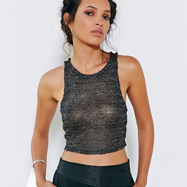 (Urban Outfitters) Silence + Noise Lured Cropped Tank Top