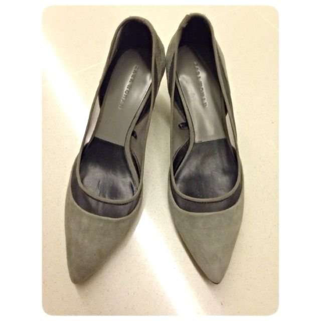 Zara Low Heels Pointed Shoes