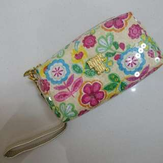 Anna Sui Double Zip Pouch. Brand NEW