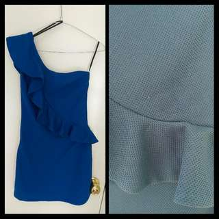One-sided Ruffle Dress