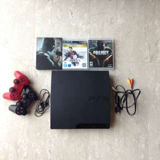Playstation 3/ PS3 With 3 Games