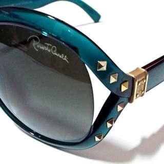Roberto Cavalli Sunglasses Women Transparent Emerald RC598 96B Rectangular