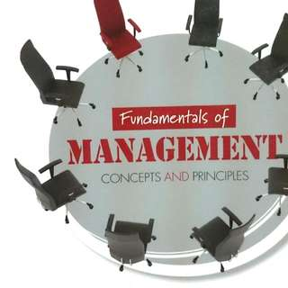 BU8601 Fundamentals Of Management Concepts & Principles