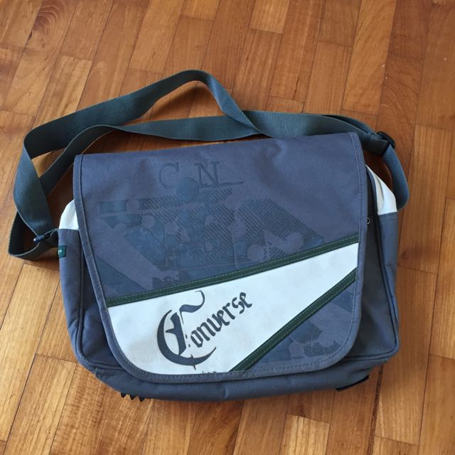 converse canvas sling bag mens fashion on carousell