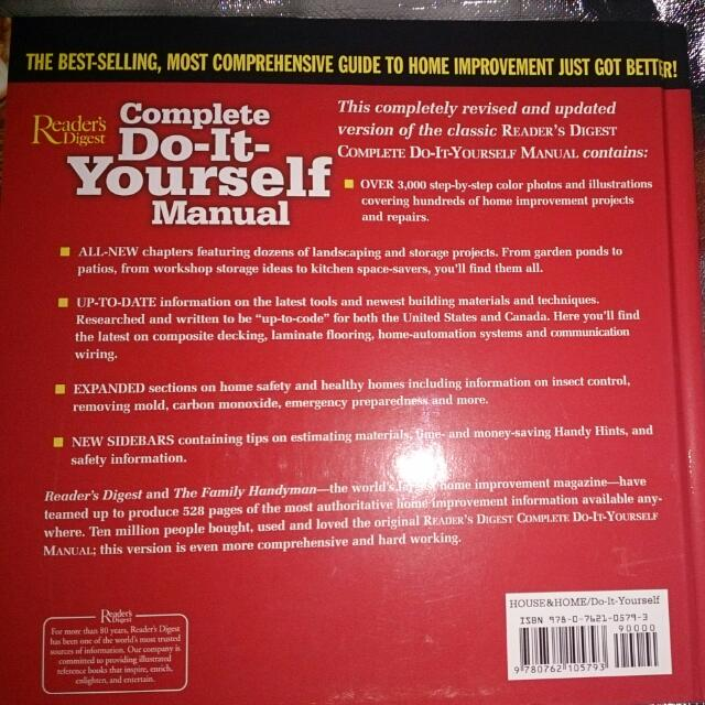 The best selling most comprehensive guide to home improvement just most comprehensive guide to home improvement just got better readers digest complete do ir yourself manual with the editors of the family handyman solutioingenieria Image collections