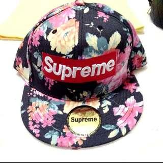 Supreme Dark Floral Snapback Cap