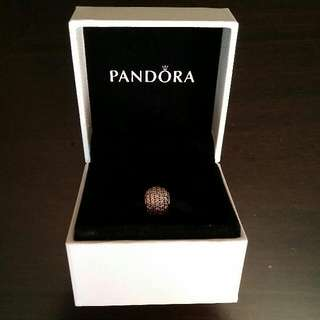 Authentic Pandora Pink Paved Ball Charm (RESERVED)