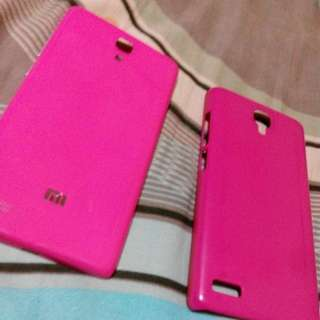 PINK BATTERY CASING & PROTECTIVE BACK CASE FOR XIAOMI NOTE!!